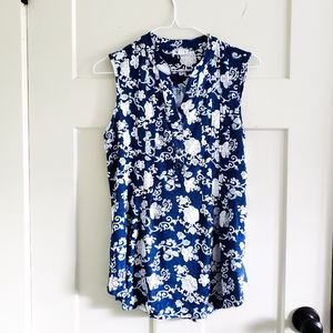 Westport Sleeveless Floral Blouse Size S